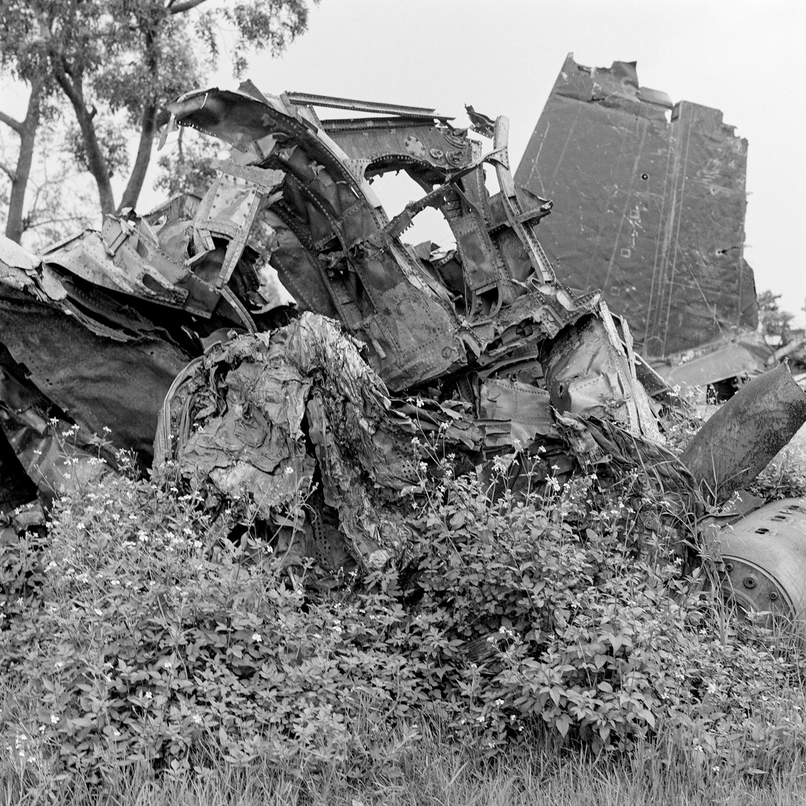 B-52 Wreckage, Ha Noi,  VN, 1991